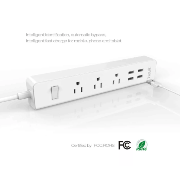 HAVIT HV-A304U Travel Power Strip and Surge Protector