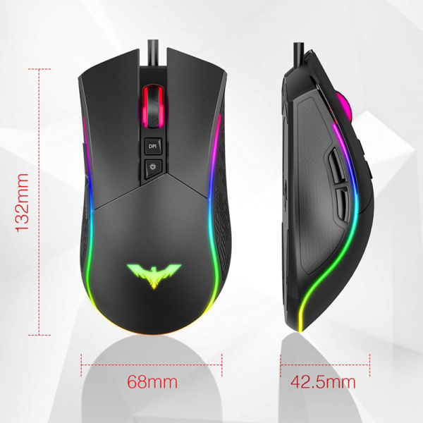 HAVIT HV-MS1006 RGB Wired USB Gaming Mouse