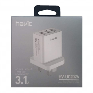 Havit HV-UC2026 USB 3.1A Triple Port Wall Charger
