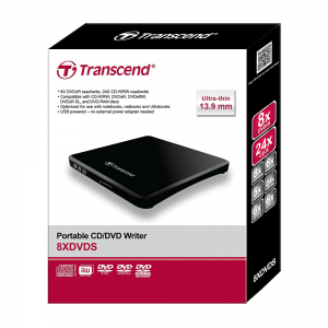 Transcend 8K Extra Slim Portable DVD Writer