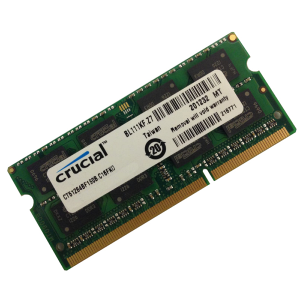 Crucial 2GB DDR3 Memory Module For Laptop