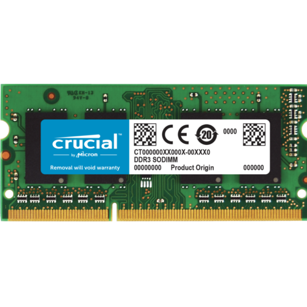 Crucial 4GB DDR3 Memory Module For Laptop