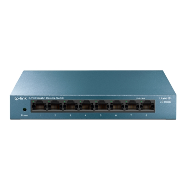 TP-Link 8-Port 10/100/1000Mbps Desktop Network Switch LS108G