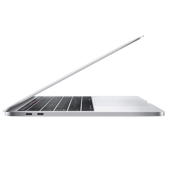 Apple MacBook Pro - 8th‑Gen Intel Core i5 ( 1.4GHz quad‑core processor), 13-inch Retina with True Tone Display, 8 GB of 2133MHz LPDDR3 RAM, 512 GB SSD, Intel Iris Plus Graphics 645, 720p FaceTime HD camera, Two Thunderbolt 3 ports, Touch Bar and Touch ID,Backlit Magic Keyboard, 802.11ac Wi‑Fi wireless networking, Bluetooth 5.0 wireless technology, macOS Silver