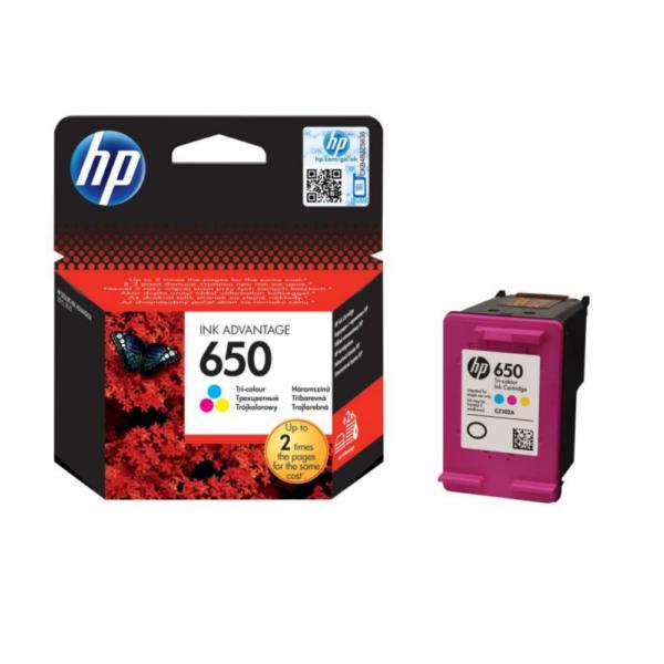 HP 650 TRI COLOR INK(DWAC00312)