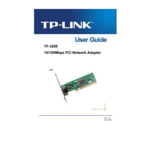 TP LINK 10/100MBPS NETWORK ADAPTER