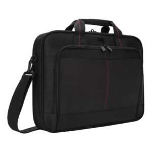 Targus Classic Slim Briefcase with Crossbody Shoulder Bag Design for the Business